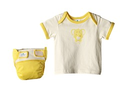 4-Pc Yellow Diaper Starter Kit
