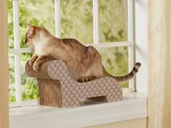 Pussycat Lounge Cardboard Scratcher - Taupe