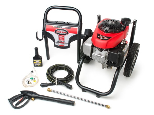 Simpson gas pressure washer honda engine for Power washer with honda motor
