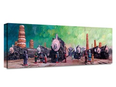 Eric Joyner Trainyard Wrapped Canvas Art