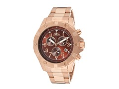 Invicta Men's Chronograph, Brown/18K Gld