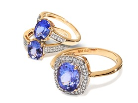 10kt Gold Tanzanite Rings w/ Diamonds - Your Choice