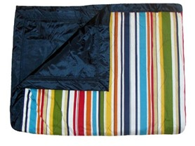 Tuffo Striped Outdoor Blanket w/ Case