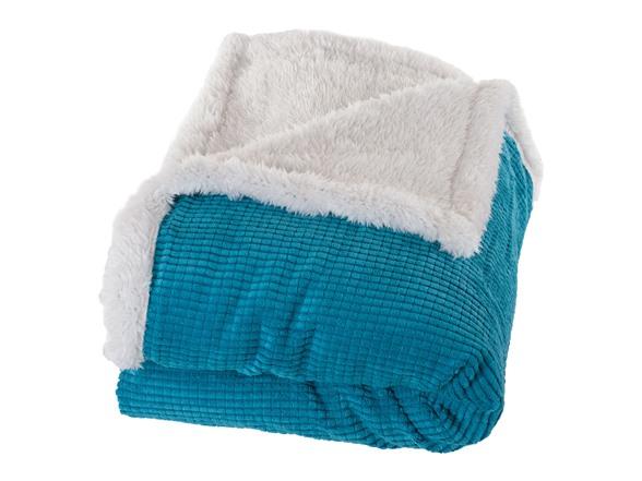 Plush corduroy sherpa throw blanket for Sherpa blanket