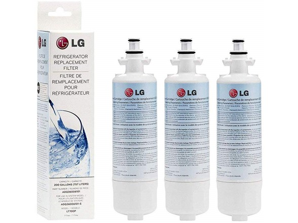 LG 3 PACK LT700P 200GAL REFRIGERATOR REPLACEMENT WATER FILTER WHITE ADQ36006101