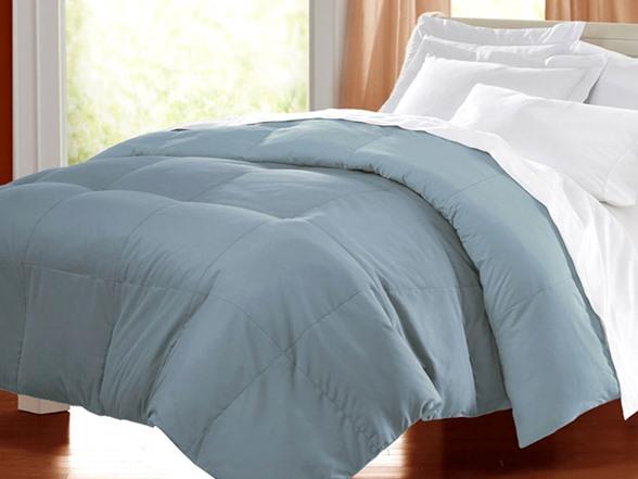 Pale Blue Comforter: Egyptian Cotton Down Alternative Comforter