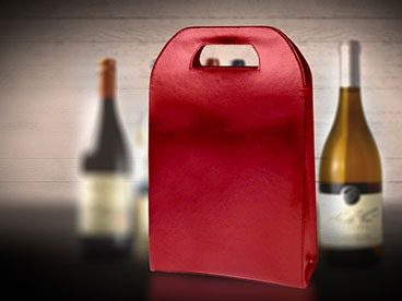 Leather Wine Tote Red