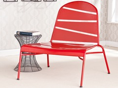 Messina Indoor/Outdoor Lounge Chair - Red