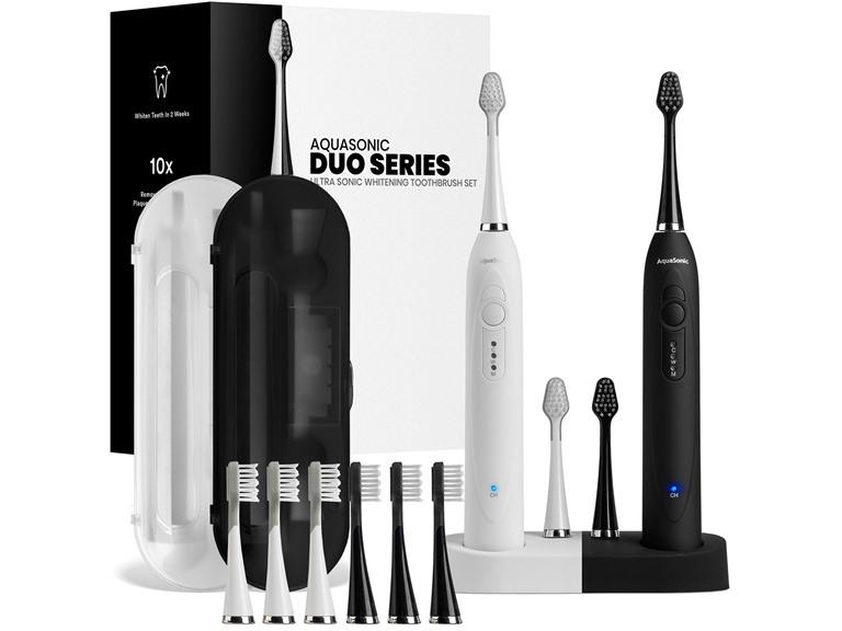 AquaSonic Duo Ultrasonic Toothbrush Set