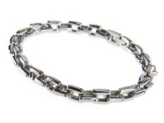 Stainless Steel Square Link Bracelet