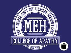 College of Apathy Zip Tote
