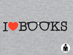 I Love Books Pullover Hoodie