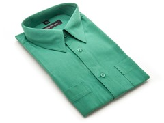Oleg Cassini Men's Dress Shirt, Green