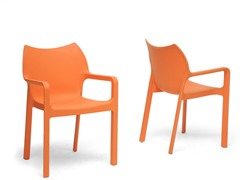 Limerick Orange Stackable Chair Set of 2