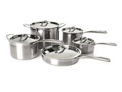 Cat Cora 10pc Stainess Tri-Ply Set