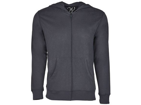 Image of Ultra Soft Sueded Zip Up Hoodie