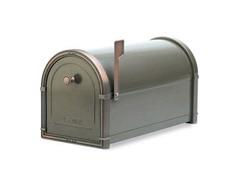 Coronado Mailbox Graphite Bronze with Copper