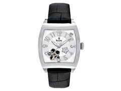 Women's BVA Floral Aperture Dial Watch