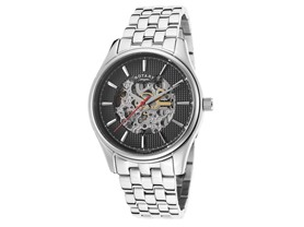 Men's Rotary Automatic Skeleton Watch