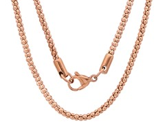 18kt Rose Gold Plated Popcorn Chain