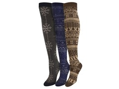 "MUK LUKS® Women's ""Basic"" 3 Pr-Pk Over the Knee Sock"