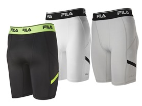FILA Men's Endurance Compression Short, 3 Colors
