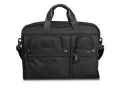 Tumi Alpha Compact Large Screen Computer Brief Black