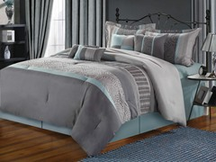 Euphoria 8Pc Comforter Set - Blue - 2 Sizes