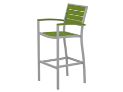 Euro Bar Chair, Silver/Lime