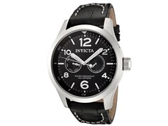 Invicta Men's II Collection Black Leather Watch