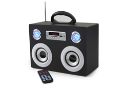 Portable Media Speaker with Radio