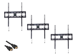 "3pk Tilt Mount for 32-72"" TVs w/ BONUS 12' HDMI"