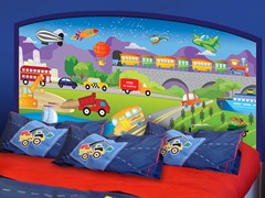 Peel & Stick Headboard (Twin or Full) - Cars