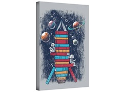 Reading Rocket Ship Gallery Wrapped Canvas 2-Sizes