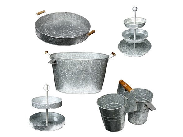 Galvanized Kit 2 Amp 3 Tier Cake Stand Tub Caddy Amp Tray