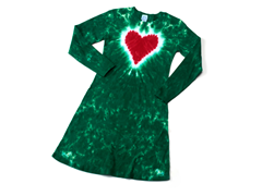 Womens Long Sleeve Dress - Heart