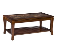 Cambria Brn Cherry Slate Cocktail Table
