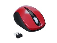 Optical 3-Button Wireless Mouse - Red