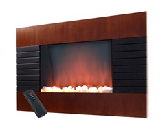 Warm House Mahogany Electric Fireplace