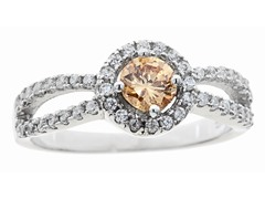 Champagne Simulated Diamond Ring