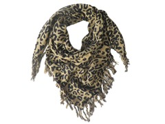 Kitara  Animal Square Scarf Black & Brown