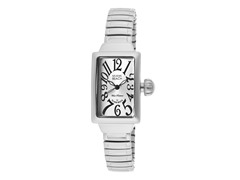 Polished Stainless Steel Rectangle Watch
