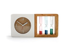 3-Color Hourglass Design Alarm Clock