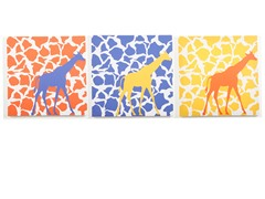 Rusty Walk Giraffes - Set of 3