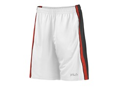 Side Striped Training Shorts, Red/White