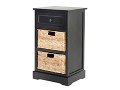 Carrie Storage Side Table - Black