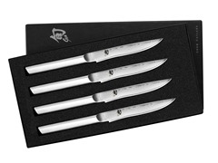 Shun 4-Piece Stainless Steel Steak Knife Set