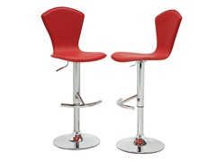 Homelegance Red Vinyl Stool S/2