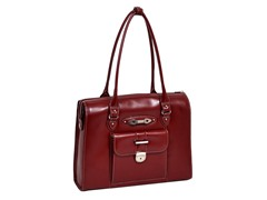 River Forest Leather Ladies' Briefcase - Red