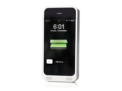 Silver Battery Case for iPhone 4/4S